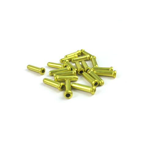 SpeedPark 1.8 mm Bike Bicycle Brake Gold Shift Cable Ends Caps Dust Cover