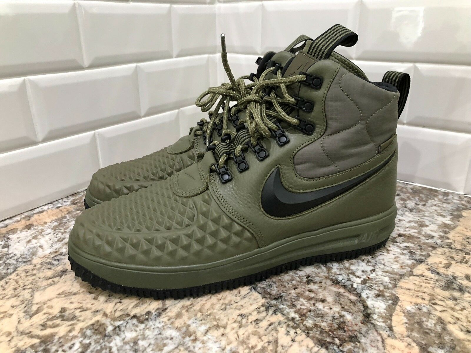 Nike air force 1 duckboot 17 lunare medio verde oliva lf1 916682-202 sz - 9