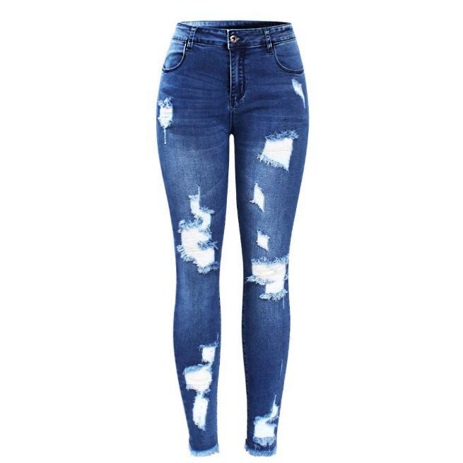 Pantalones Vaqueros women De Moda Pantalón de mezclilla Elásticos Nueva estilo