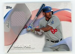 YASIEL PUIG 2019 Topps Series 1 Baseball #MLM-YP Material Relic (LA Dodgers)