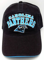 Carolina Panthers Hat Black Cotton Relaxed Fit With Adjustable Buckle Closure