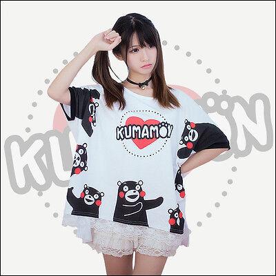 Japanese Cartoon Kumamon T Shirt Loose Comfortable Love Expression Cotton Gift