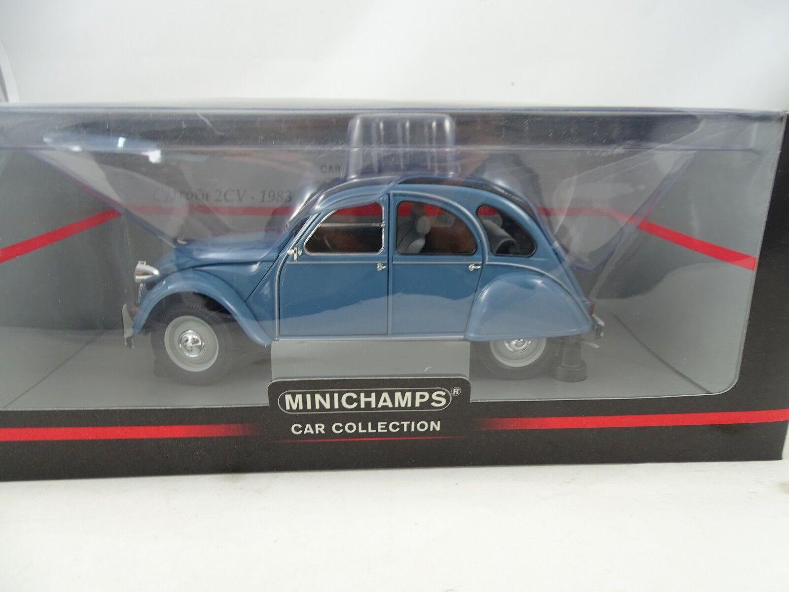 1 18 Minichamps  150111500 CITROEN 2cv blu-rarità