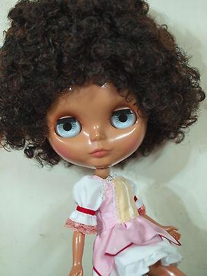"""Takara 12"""" Blythe Nude Doll from Factory No.268 Heather Sky Blythe's Dark Skin"""