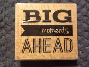 Studio G Big Moments Ahead Wooden Rubber Stamp Graduation Crafting DIY