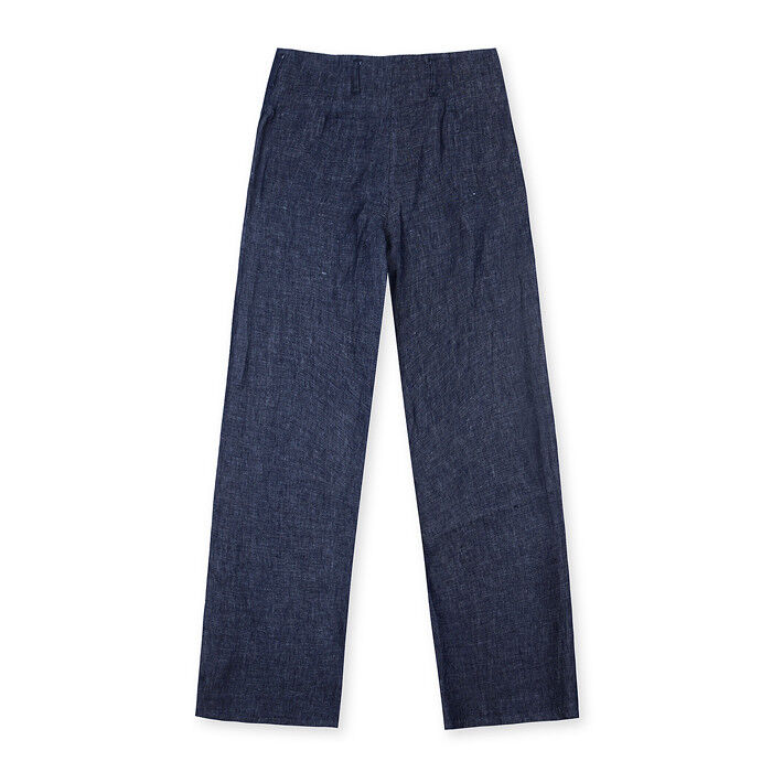 Momoni Da Donna LARA Lino Pantaloni Pantaloni Pantaloni Taglia 8 10 UK BNWT RRP  Denim Blu 130da5
