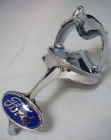 1932 Ford Car Grille Shell Ornament & Quail Radiator Cap + Blue Ford Emblem '32