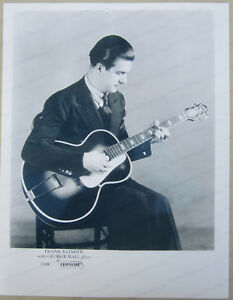 Frank Klinger Playing Vintage Epiphone Guitar Pro Brillant Reproduction Print Ad-afficher Le Titre D'origine