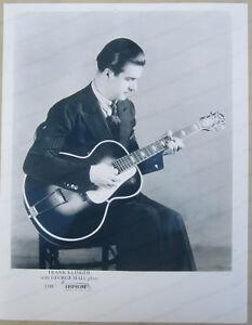 Juste Frank Klinger Playing Vintage Epiphone Guitar Pro Brillant Reproduction Print Ad-afficher Le Titre D'origine