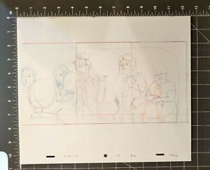 KING OF THE HILL CARTOON ANIMATION ART PENCIL CEL DRAWING DALE AND NANCY