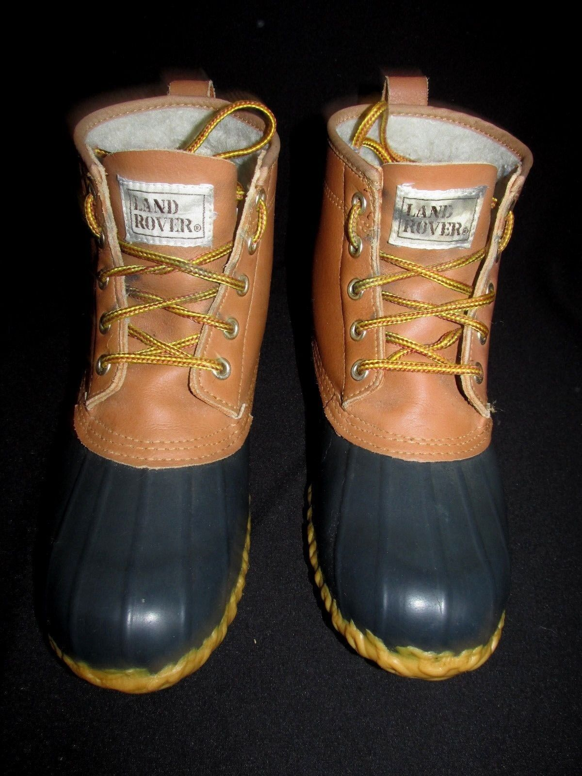 Land Rover VTG Steel Shank Navy Braun Leder Sherpa Insulated Duck Boot