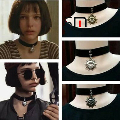 Léon The Professional Mathilda Sun Velvet Choker 90s 80s Necklace Vintage silver