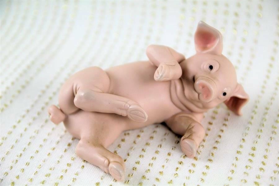 Farm Animal Pig Ceramic Figuine By Kathy Wise Enesceo 1990 4 5 Ebay