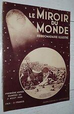 MIROIR MONDE #22 1930 SEISME ITALIE AMERICA'S CUP MEXIQUE CYCLISME LEDUCQ DAVIS