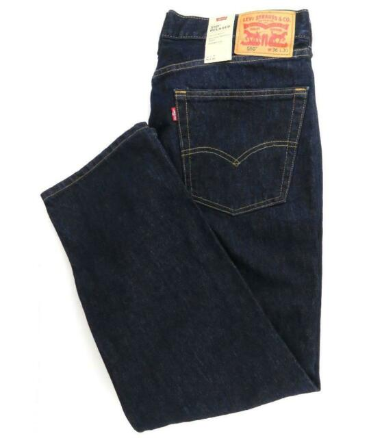 New Levi/'s Strauss 550 Men/'s Relaxed Fit Straight Leg Jeans Pants Rinse 550-0216