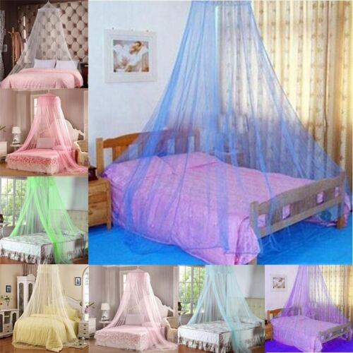 Mosquito Net Home Bed Canopy Indoors or Outdoors Round Hoop Bed Netting F