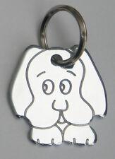 Pet ID Tag - Highly Polished Chrome Dog Shape Tags - Engraved FREE UK P&P FREE