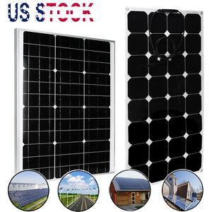 12V 15W/30W50W/100W Mono Cell Solar Panel Charger Battery Off Grid for RV Boat