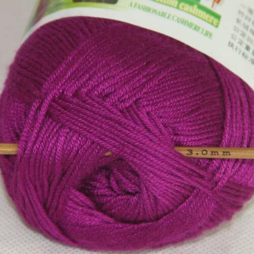 Vente nouveau 6 skeinsx 50 g Doux Bambou Coton Bébé Hand Knit Châles Crochet Yarn 03