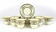 16pc Minton Porcelain Cups & Saucers in Stanwood Hand Painted Multicolor Floral