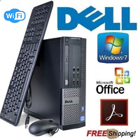 Lightning Fast Dell Core i5 Windows 7 Pro SFF Desktop PC Computer 16Gb 1Tb WiFi