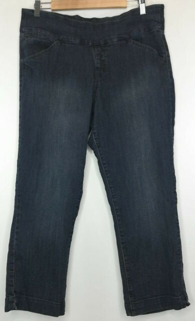 JAG Women's Jeans size 16 Pull On Dark Blue High Rise Stretch plus slim fit