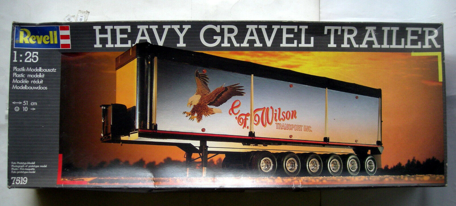 Maquette REVELL 1 25 - REMORQUE CAMION HEAVY GRAVEL TRAILER