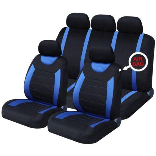 13 on DACIA SANDERO FRONT /& REAR CAR SEAT COVER SET BLUE WOVEN FABRIC