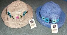 7500639acec10 2 NEW FADED GLORY CHEERIO DAISY BLUE NATURAL WOMEN S Outdoor STRAW Hat