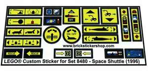 Replica-Pre-Cut-Sticker-for-Technic-set-8480-Space-Shuttle-1996