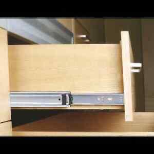 1 Paar Schubkasten Vollauszug Schubladenschiene Teleskopschiene 40kg