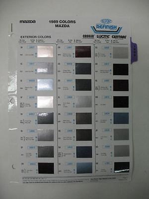Automotive Paint Colors >> 1989 Mazda Dupont 31 Paint Chips + Color Information Automotive Refinish | eBay