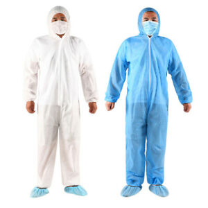 Unisex Coveralls Full Body Protective Suits Doctor Nurse Jumpsuit