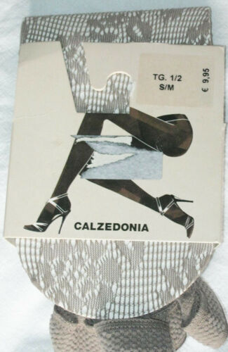 S M L Ladies neutral shade with floral pattern Calzedonia Beige Lace Tights