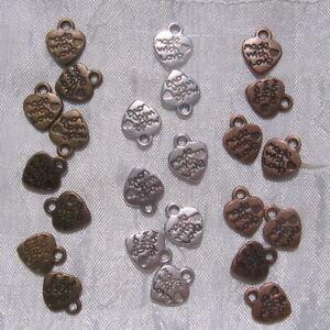 20-breloques-AU-CHOIX-coeur-pendentifs-10mmx12mm-perles-en-argente-bronze-cuivre