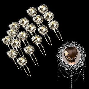 Nuziale 20-40pcs Cristallo Fiore Perla Diamante Capelli Pin Clip Festa