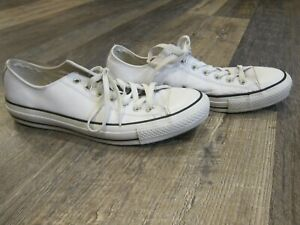 Used White Leather Converse Chuck