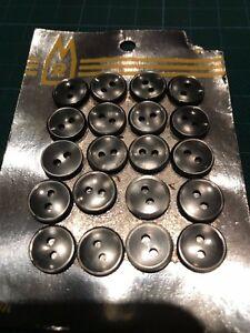 1 Carte Avec 20 Linge Boutons Blouse Boutons Gris Plastique Diamètre Ca10mm Neuf-afficher Le Titre D'origine éGouttage