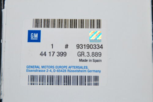 ORIGINAL OPEL GM KRAFTSTOFFFILTER  FILTER 4417399 GM 93190334 VIVARO NEU