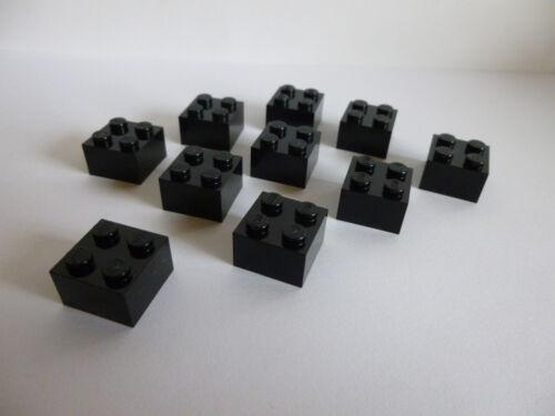 10 x LEGO® 3003 Basis Bausteine 2x2 Noppen Farbe in schwarz Neuware.