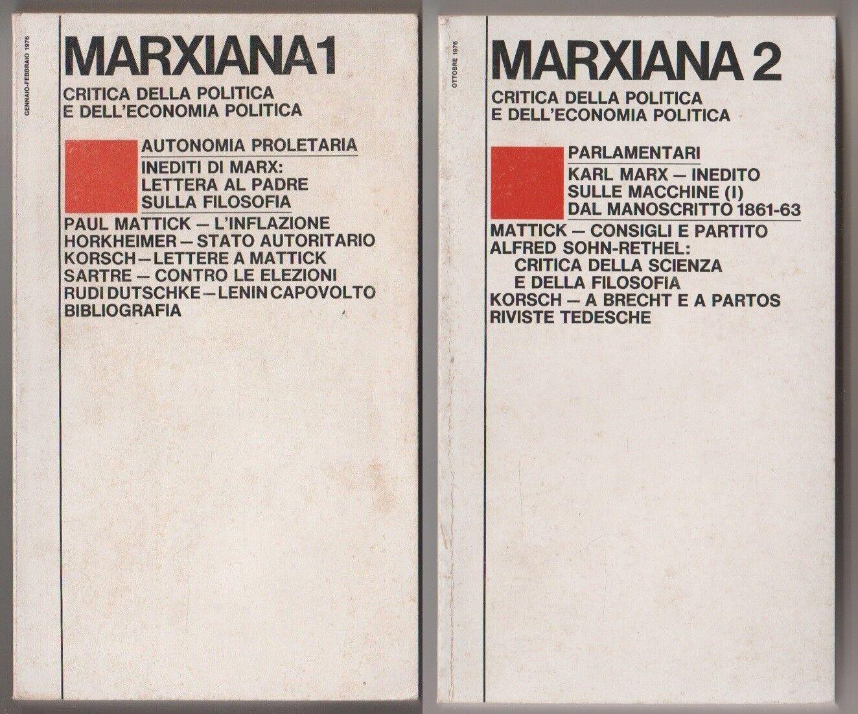 Marxiana 1 + Marxiana 2 - gennaio/febbraio/ottobre 1976