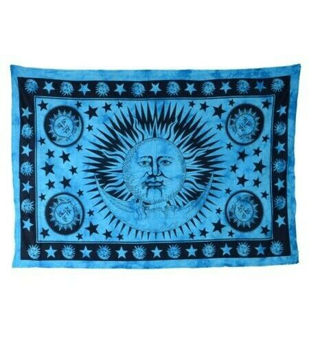 Decorative Cloth Bedspread Wall Hanging Sun Moon and Star