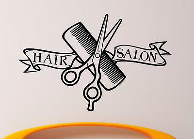 Hair Salon Vinyl Decal Barber Shop Sticker Removable Home Art Decor (11hsl)