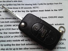 GENUINE AUDI TRANSPONDER A6,TT ETC 4DO 837 231K-3BUTON REMOTE UNCUT FLIP KEY FOB