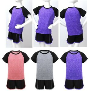 Toddler Boys Girls Sports Running Outfits Sleeveless Tops Vest+Shorts Activewear