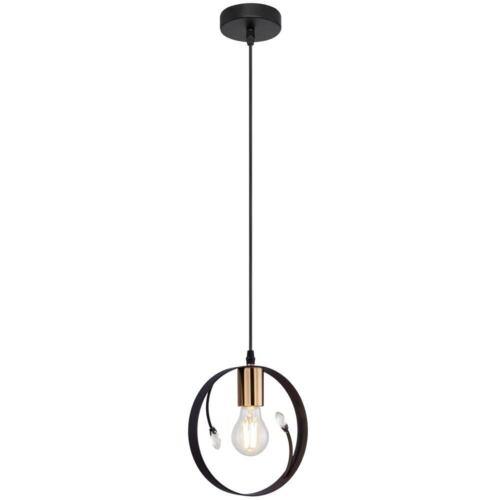 Retro Decken Hänge Lampe Wohn Zimmer Beleuchtung Kristall Pendel Leuchte schwarz