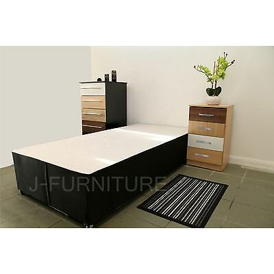 Single,Double or King Size Bed Base in Black.Choose Storage Options&Headboard.