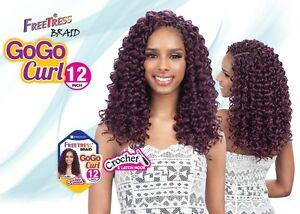New Shake N Go Freetress Braid Gogo Curl 12 Medium Length Curly
