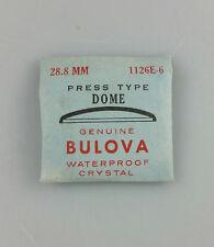 VINTAGE BULOVA PRESS TYPE DOME WATCH CRYSTAL - 28.8mm - PART# 1126E-5
