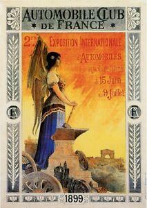 1899 Club France Automobile Car Advertisement Poster